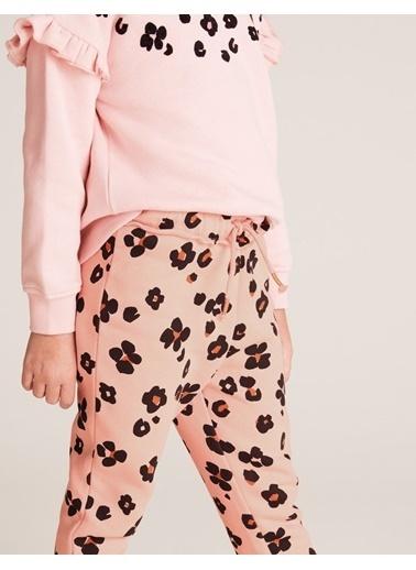 Marks & Spencer Leopar Desenli Jogger Pantolon Pembe